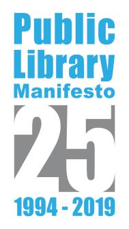 25 Anos do Manifesto pelas Bibliotecas Públicas