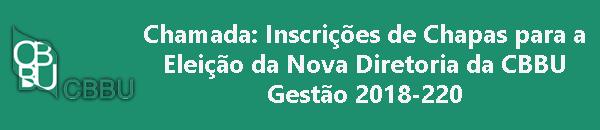 Eleições CBBU - Gestão 2018-2020
